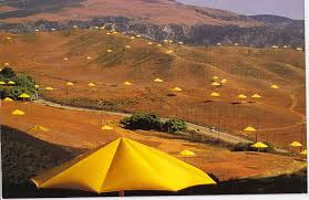 Poem of the Month: Christo's Yellow Umbrellas
